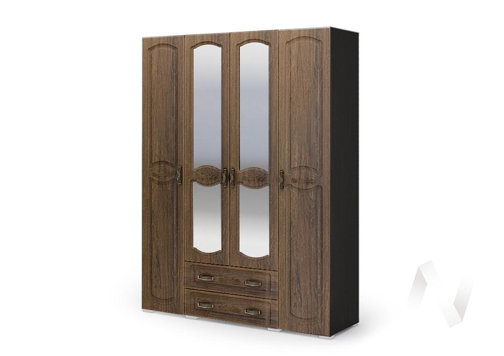 Шкаф 4-х ств ШК 044 Спальня Медина (венге/дуб санремо шоколад)
