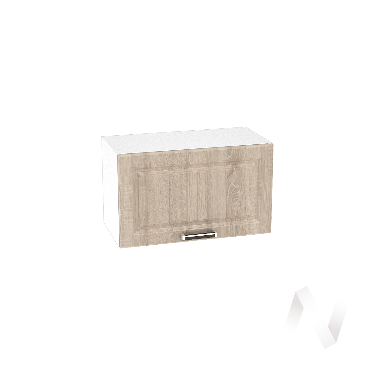 """Кухня """"Прага"""": Шкаф верхний горизонтальный 600, ШВГ 600 (дуб сонома/корпус белый) в Новосибирске в интернет-магазине мебели kuhnya54.ru"""