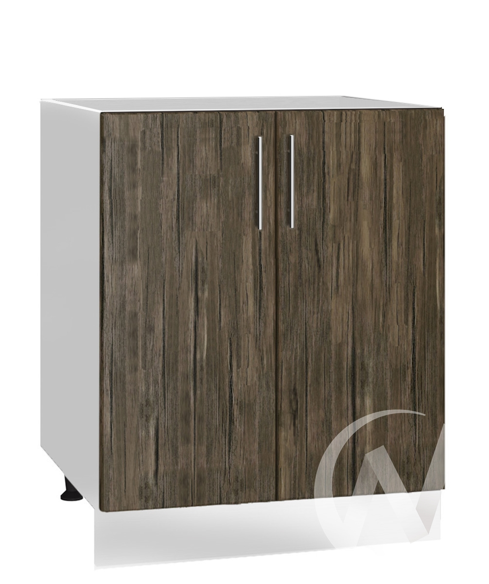 "Кухня ""Норден"": Шкаф нижний под мойку 600, ШНМ 600 (старое дерево/корпус белый)"