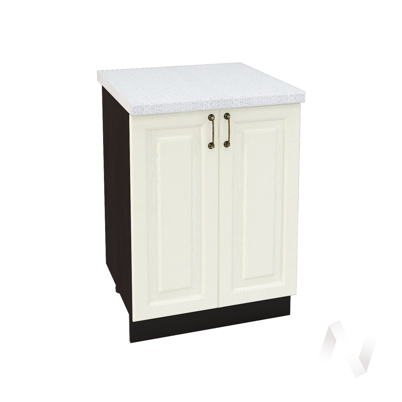 "Кухня ""Ницца"": Шкаф нижний 600, ШН 600 (Крем/корпус венге)"