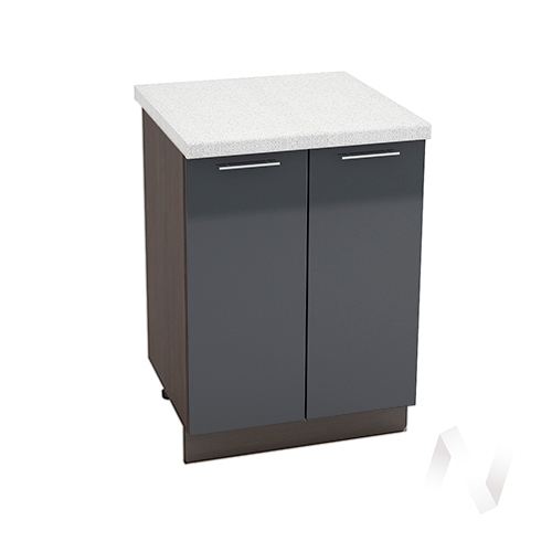 "Кухня ""Валерия-М"": Шкаф нижний 600, ШН 600 (Антрацит глянец/корпус венге)"
