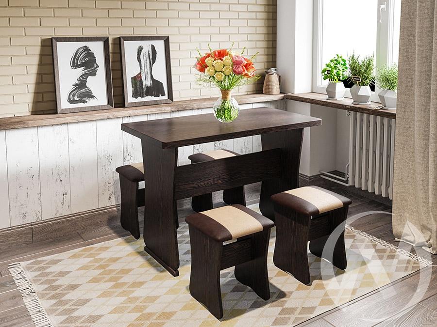Обеденная группа тип 1 (венге/шоколад/беж)  в Томске — интернет магазин МИРА-мебель