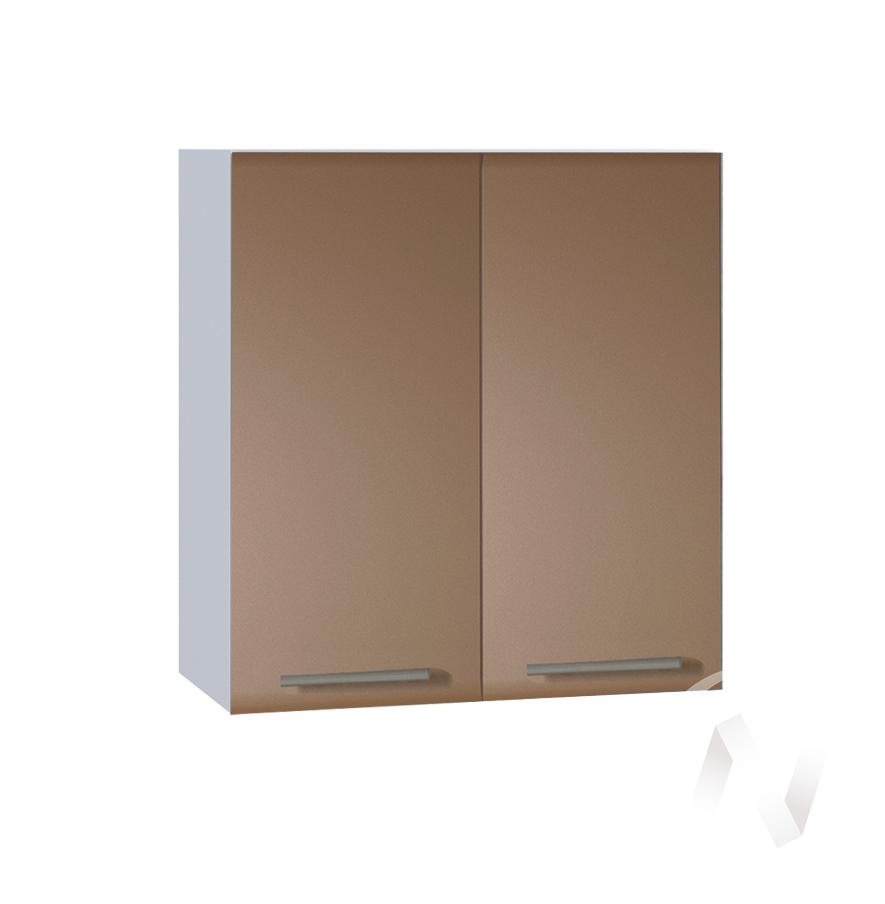 """Кухня """"Люкс"""": Шкаф верхний 600, ШВ 600 (Шоколад матовый/корпус белый)"""