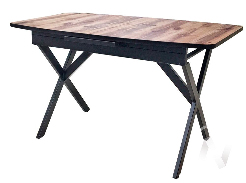 Стол раздвижной Rolf 2 (черный/берёза сандал/металлокаркас черный)