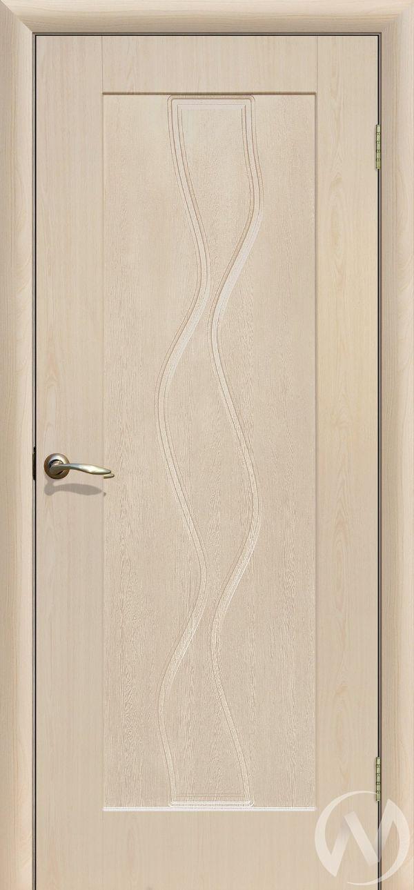 Дверь ПВХ Тип Водопад, 60, глухая, беленый дуб