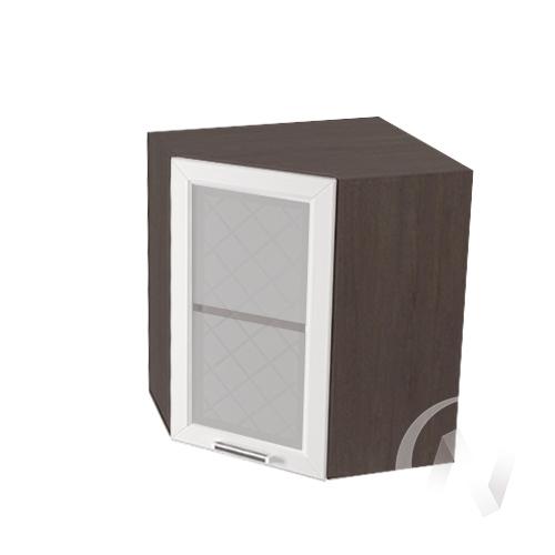 """Кухня """"Вена"""": Шкаф верхний угловой со стеклом 590, ШВУС 590 (корпус венге)"""