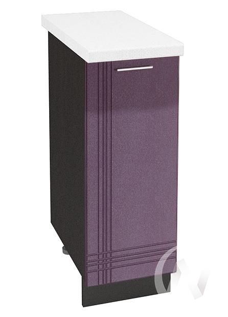 """Купить кухня """"струна"""": шкаф нижний 300, шн 300 (фиолетовый металлик/корпус венге) в Новосибирске в интернет-магазине Мебель плюс Техника"""