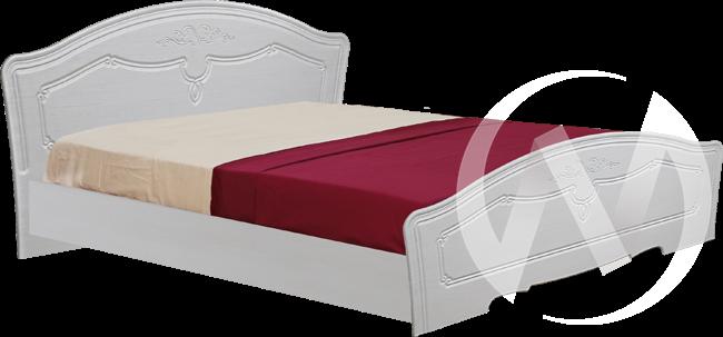 Ева Кровать 1,4 (бодега-рельеф пастель) в Томске — авторская мебель Экостиль