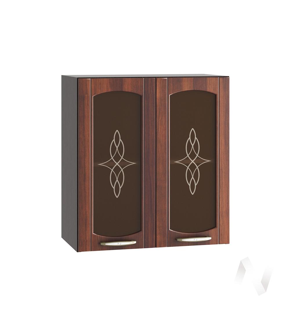 """Кухня """"Неаполь"""": Шкаф верхний со стеклом 600, ШВС 600 (Италия/корпус венге)"""