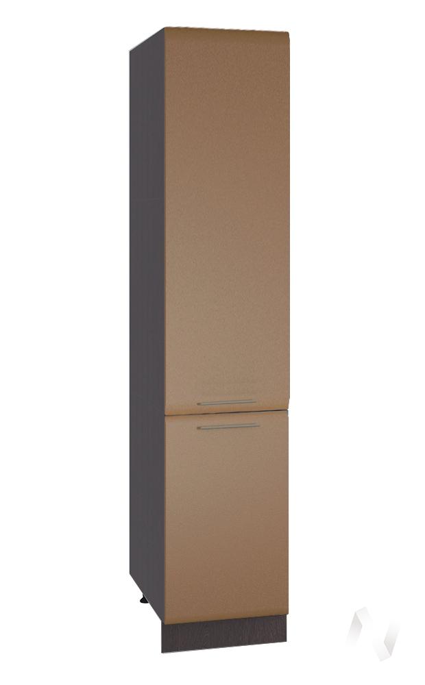 """Кухня """"Люкс"""": Шкаф пенал 400, ШП 400 (Шоколад матовый/корпус венге) в Новосибирске в интернет-магазине мебели kuhnya54.ru"""