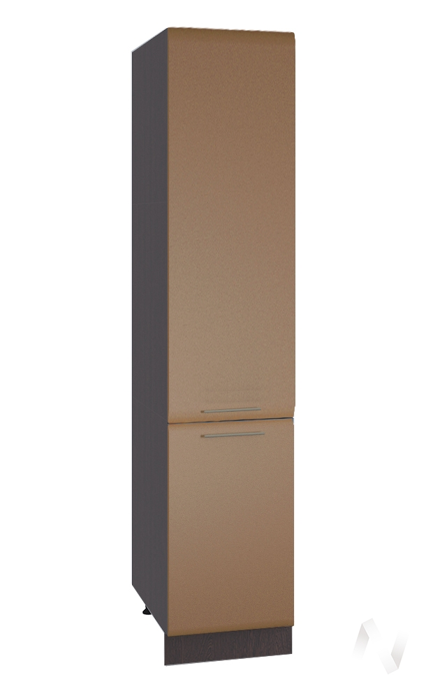 "Кухня ""Люкс"": Шкаф пенал 400, ШП 400 (Шоколад матовый/корпус венге)"