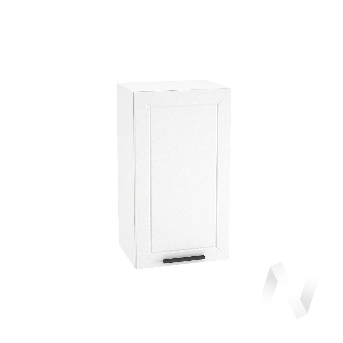 "Кухня ""Глетчер"": Шкаф верхний 400, ШВ 400 (Айленд Силк/корпус белый)"