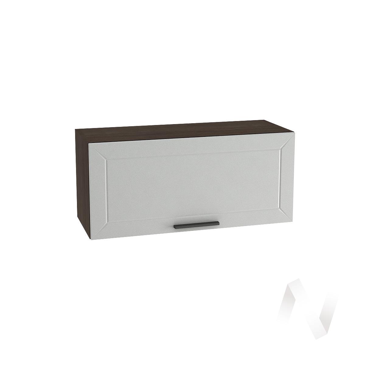 """Кухня """"Глетчер"""": Шкаф верхний горизонтальный 800, ШВГ 800 (Гейнсборо Силк/корпус венге)"""