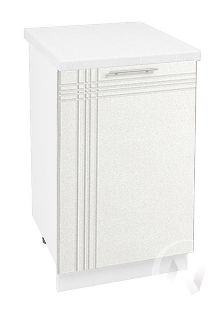 """Кухня """"Струна"""": Шкаф нижний 500, ШН 500 (белый металлик/корпус белый)"""