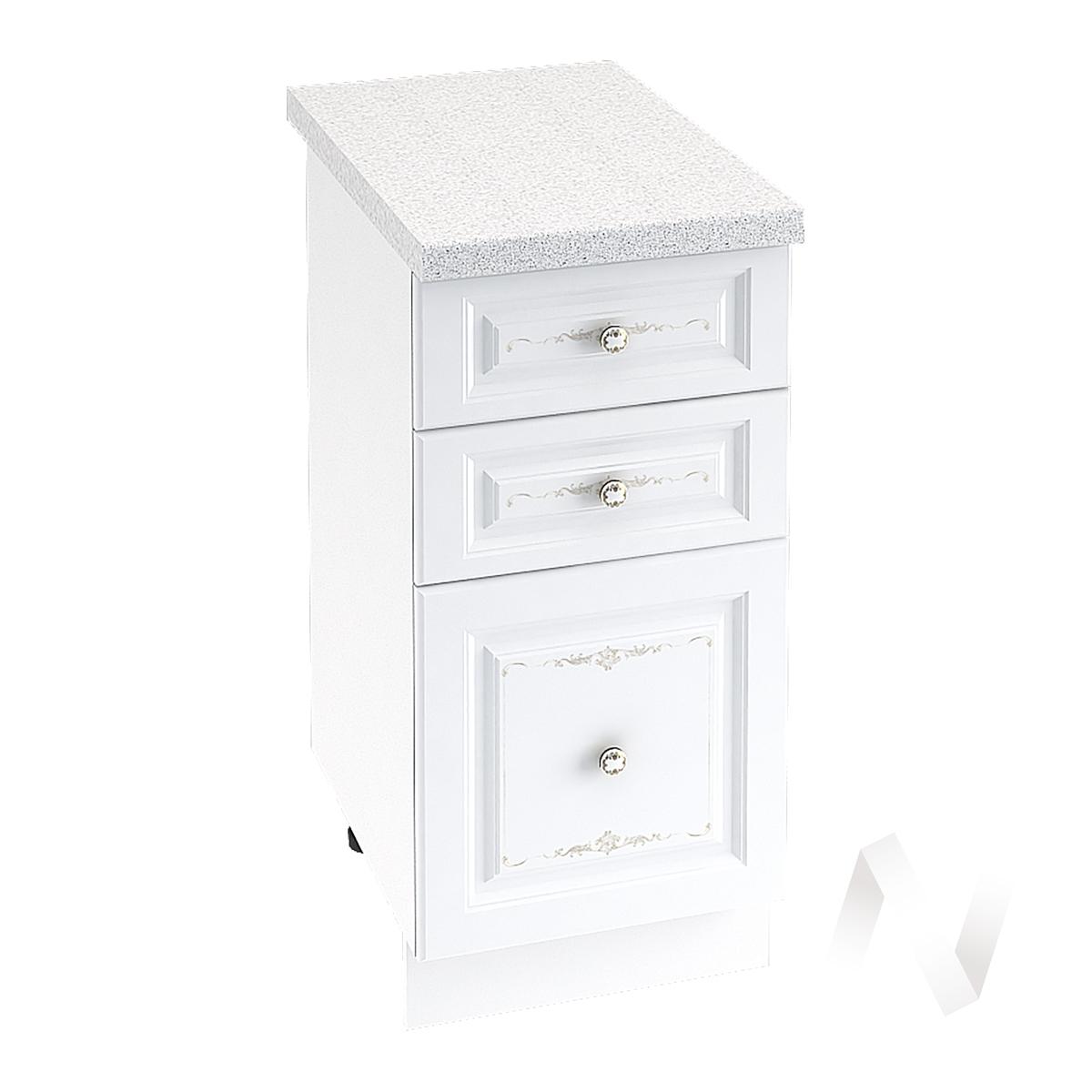 """Кухня """"Шарлиз"""": Шкаф нижний с 3-мя ящиками 400, ШН3Я 400 (корпус белый)"""