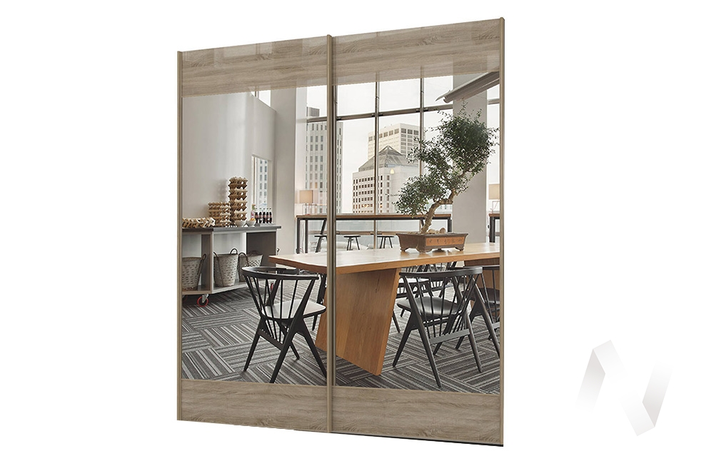 Комплект фасадов с зеркалом 2032 СТЛ.299.53 Марвин-3 (Дуб сонома глянец/Зеркало)