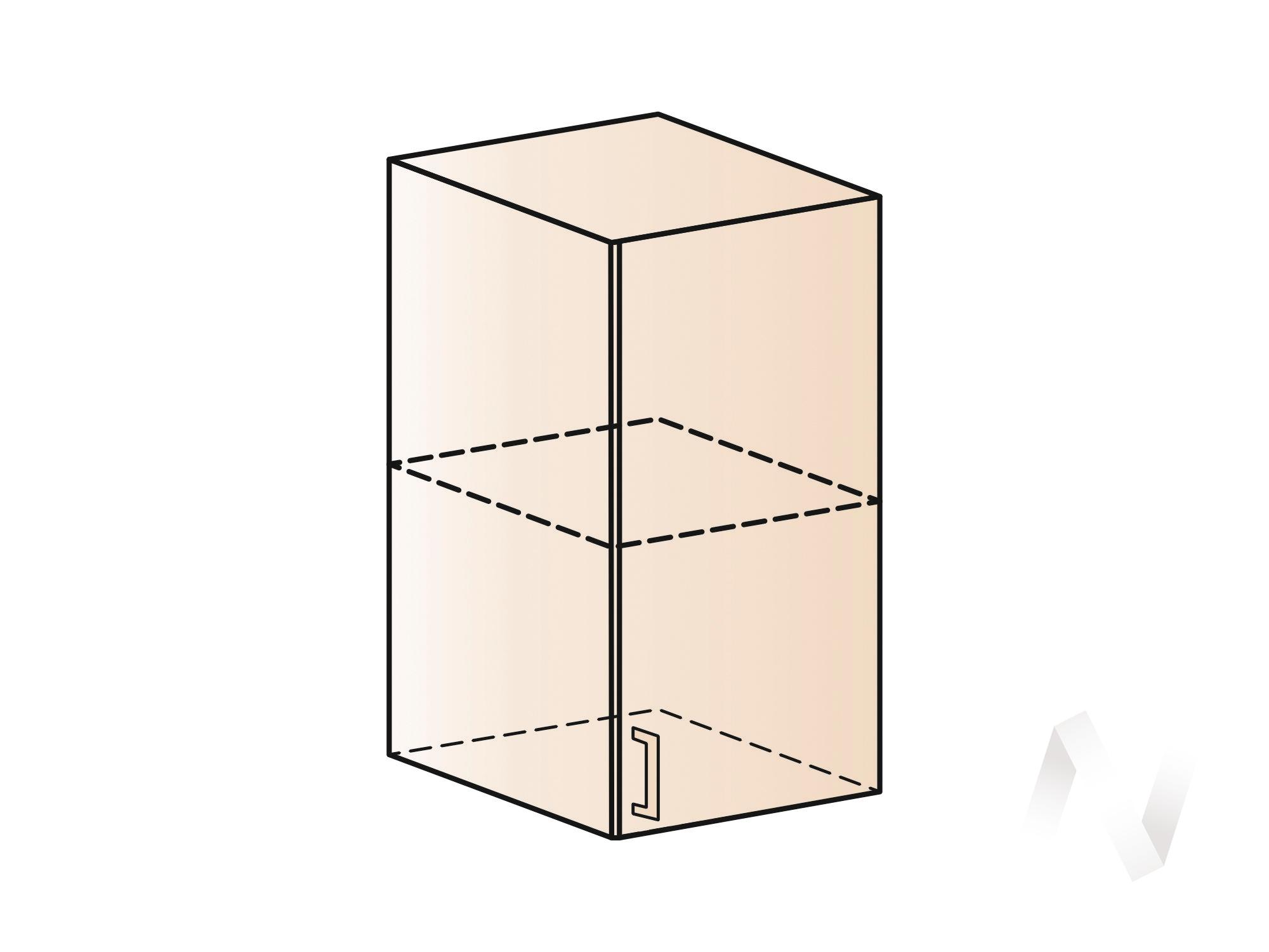 """Кухня """"Люкс"""": Шкаф верхний 400, ШВ 400 (Гобелен шампань/корпус венге) в Новосибирске в интернет-магазине мебели kuhnya54.ru"""