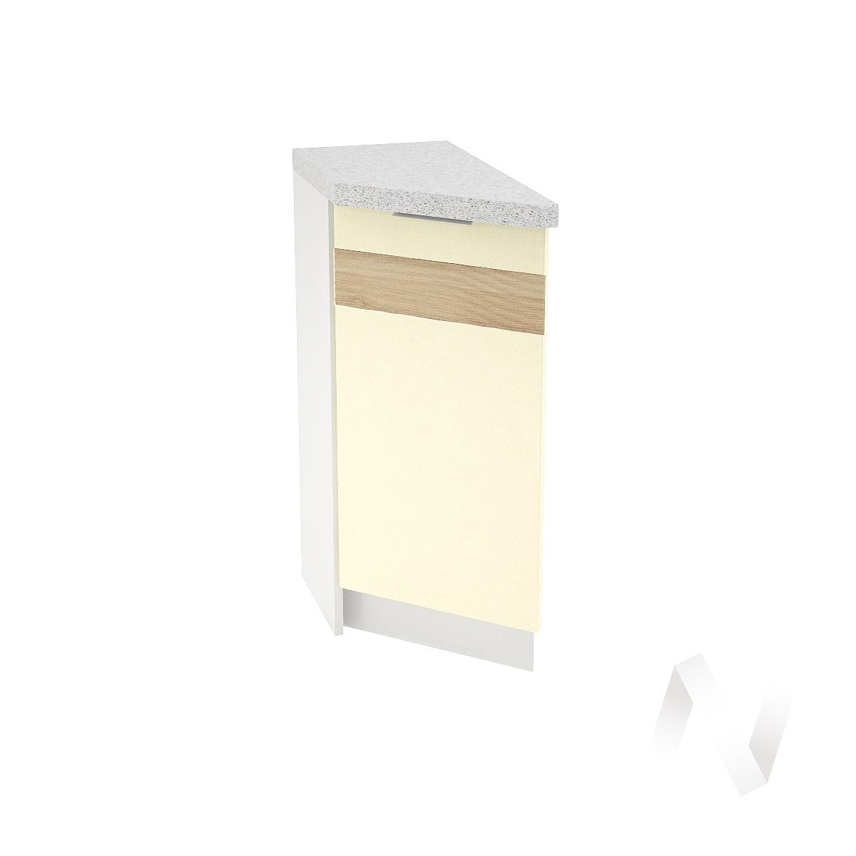 """Кухня """"Терра"""": Шкаф нижний торцевой правый 300, ШНТ 300 (ваниль софт/корпус белый)"""