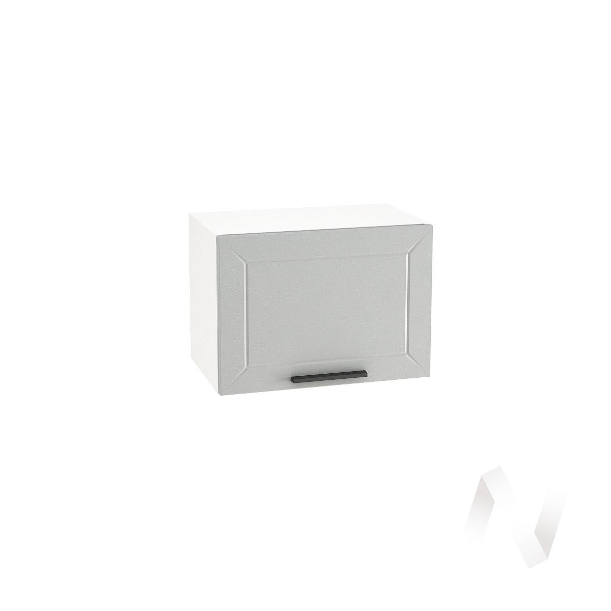 """Кухня """"Глетчер"""": Шкаф верхний горизонтальный 500, ШВГ 500 (Гейнсборо Силк/корпус белый)"""