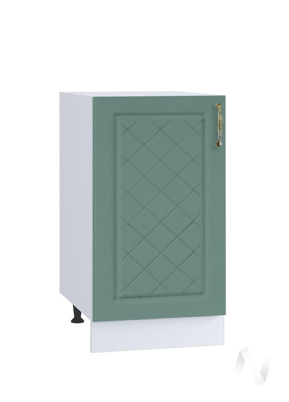 "Кухня ""Селена"": Шкаф нижний 400, ШН 400 (Дуб бирюзовый/корпус белый)"