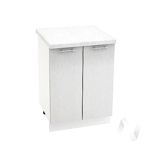 """Кухня """"Валерия-М"""": Шкаф нижний 600, ШН 600 (дождь серый/корпус белый)"""