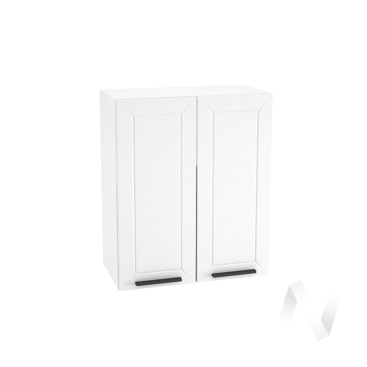 "Кухня ""Глетчер"": Шкаф верхний 600, ШВ 600 (Айленд Силк/корпус белый)"