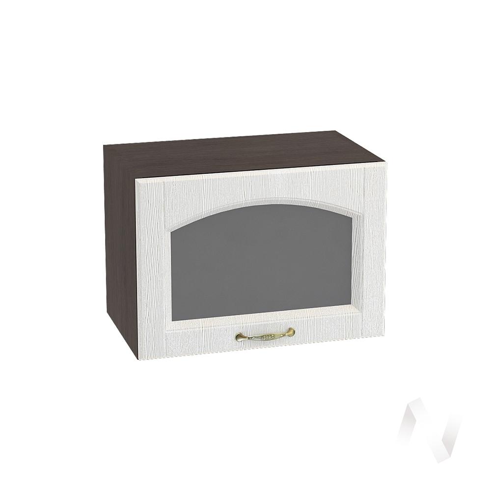 """Кухня """"Верона"""": Шкаф верхний горизонтальный со стеклом 500, ШВГС 500 (ясень золотистый/корпус венге)"""