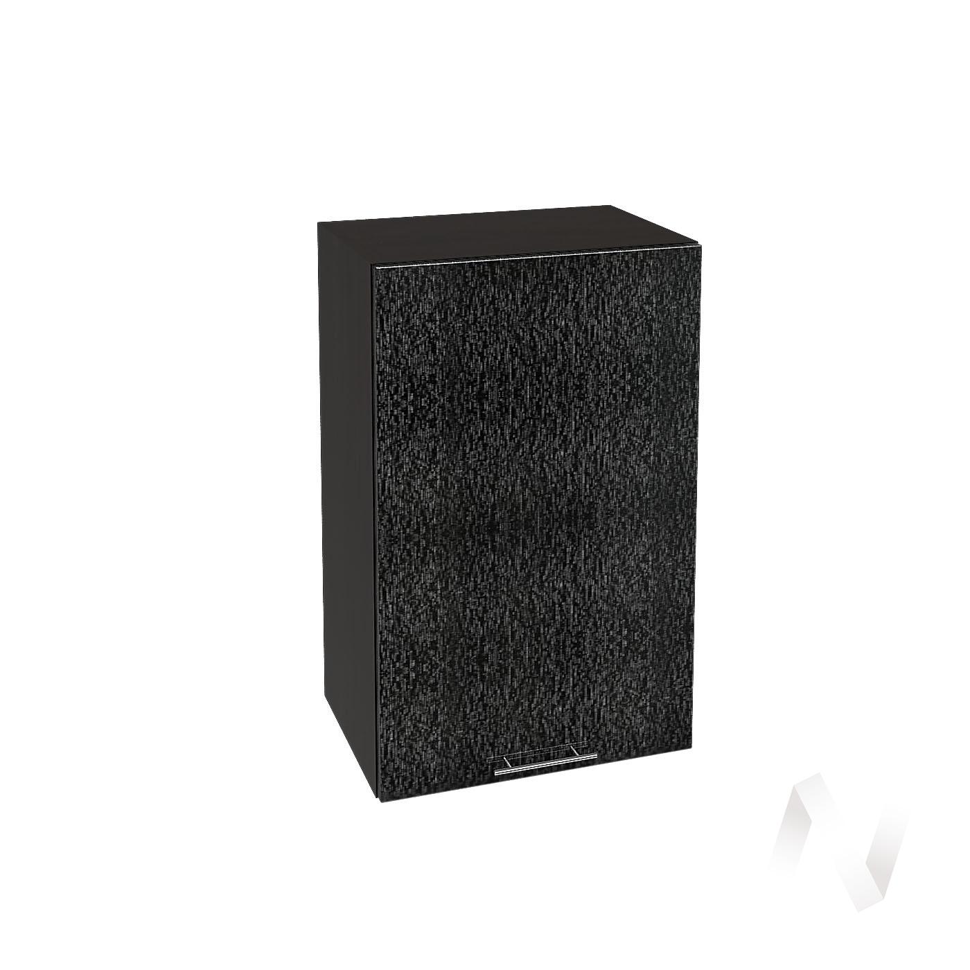 """Кухня """"Валерия-М"""": Шкаф верхний 450, ШВ 450 (дождь черный/корпус венге)"""