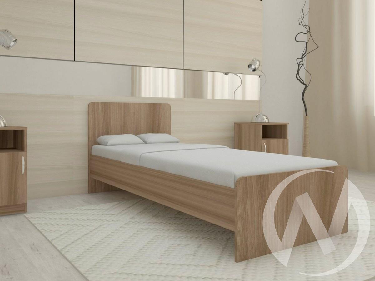 Кровать Ксения 800*1900 б/м (шимо темный)  в Томске — интернет магазин МИРА-мебель