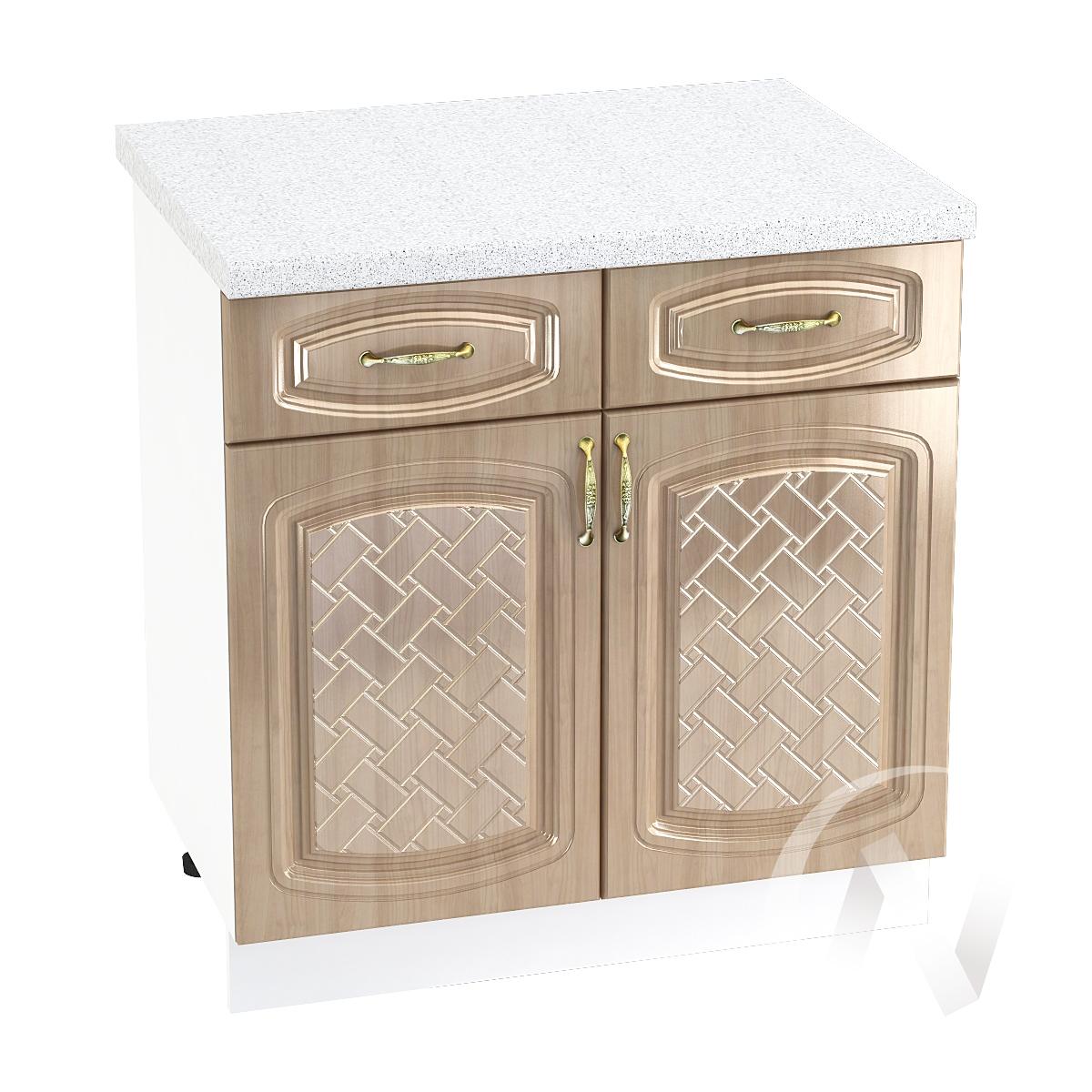 "Кухня ""Сити"": Шкаф нижний с ящиками 800, ШН1Я 800 (корпус белый)"