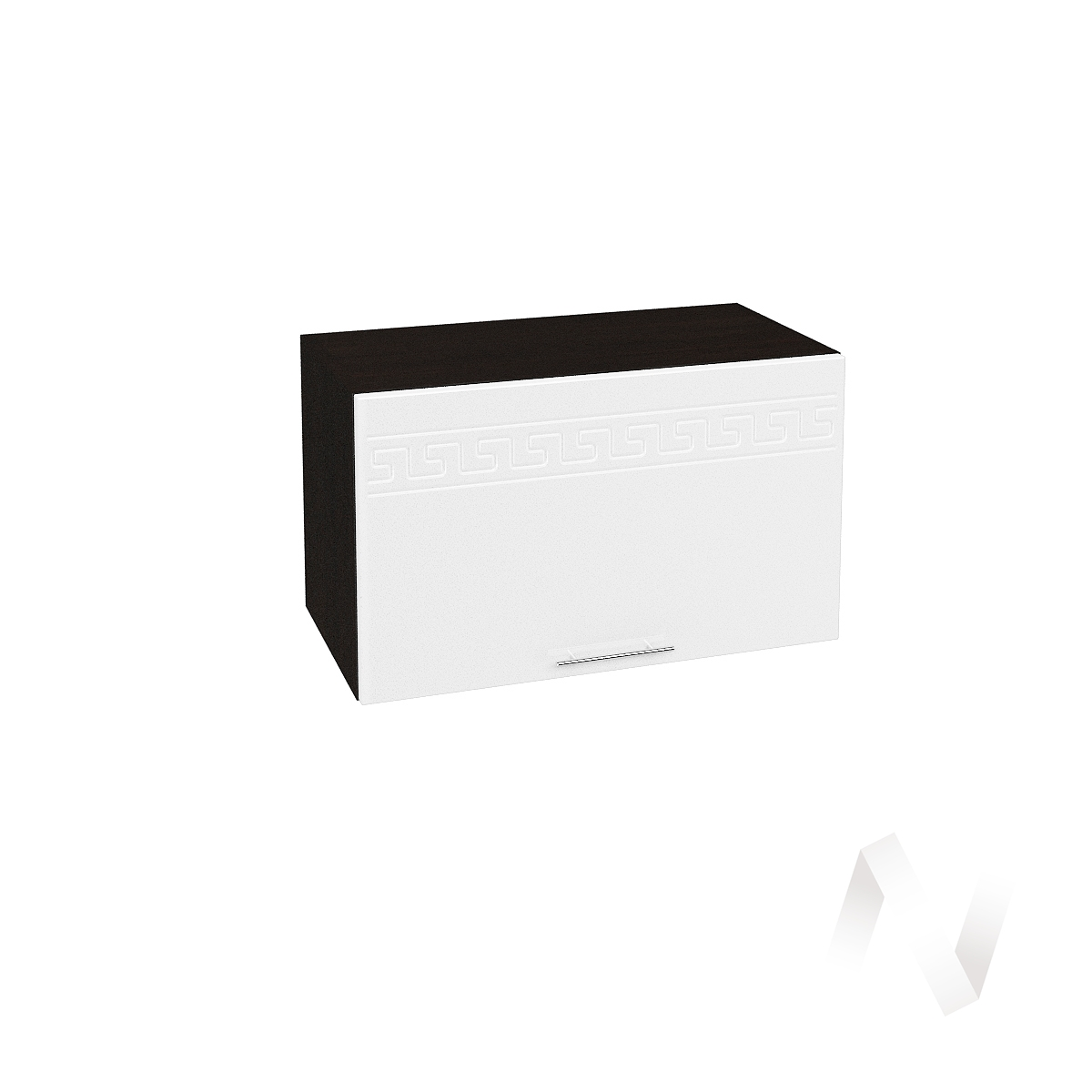 "Кухня ""Греция"": Шкаф верхний горизонтальный 600, ШВГ 600 (белый металлик/корпус венге)"
