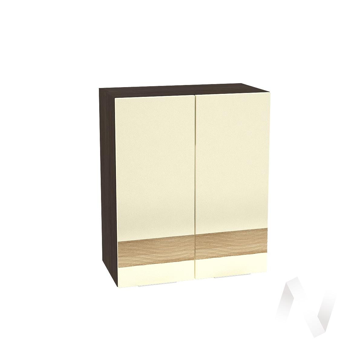 """Кухня """"Терра"""": Шкаф верхний 600, ШВ 600 (ваниль софт/ель карпатская/корпус венге)"""