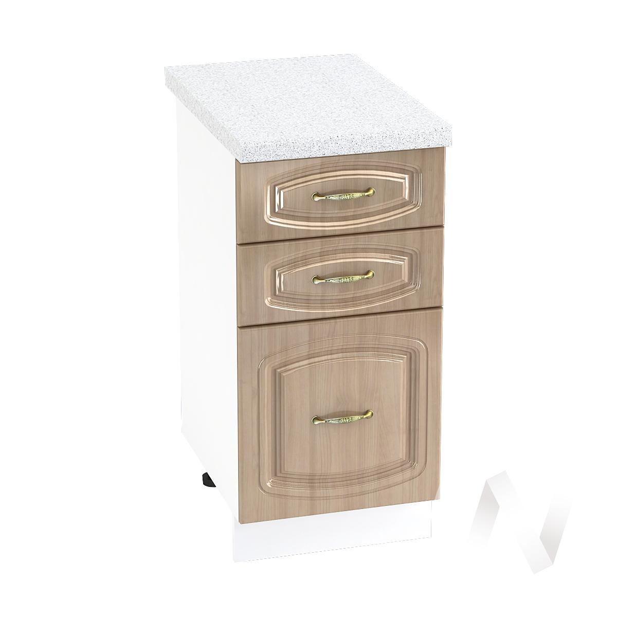 """Кухня """"Сити"""": Шкаф нижний с 3-мя ящиками 400, ШН3Я 400 (корпус белый)"""