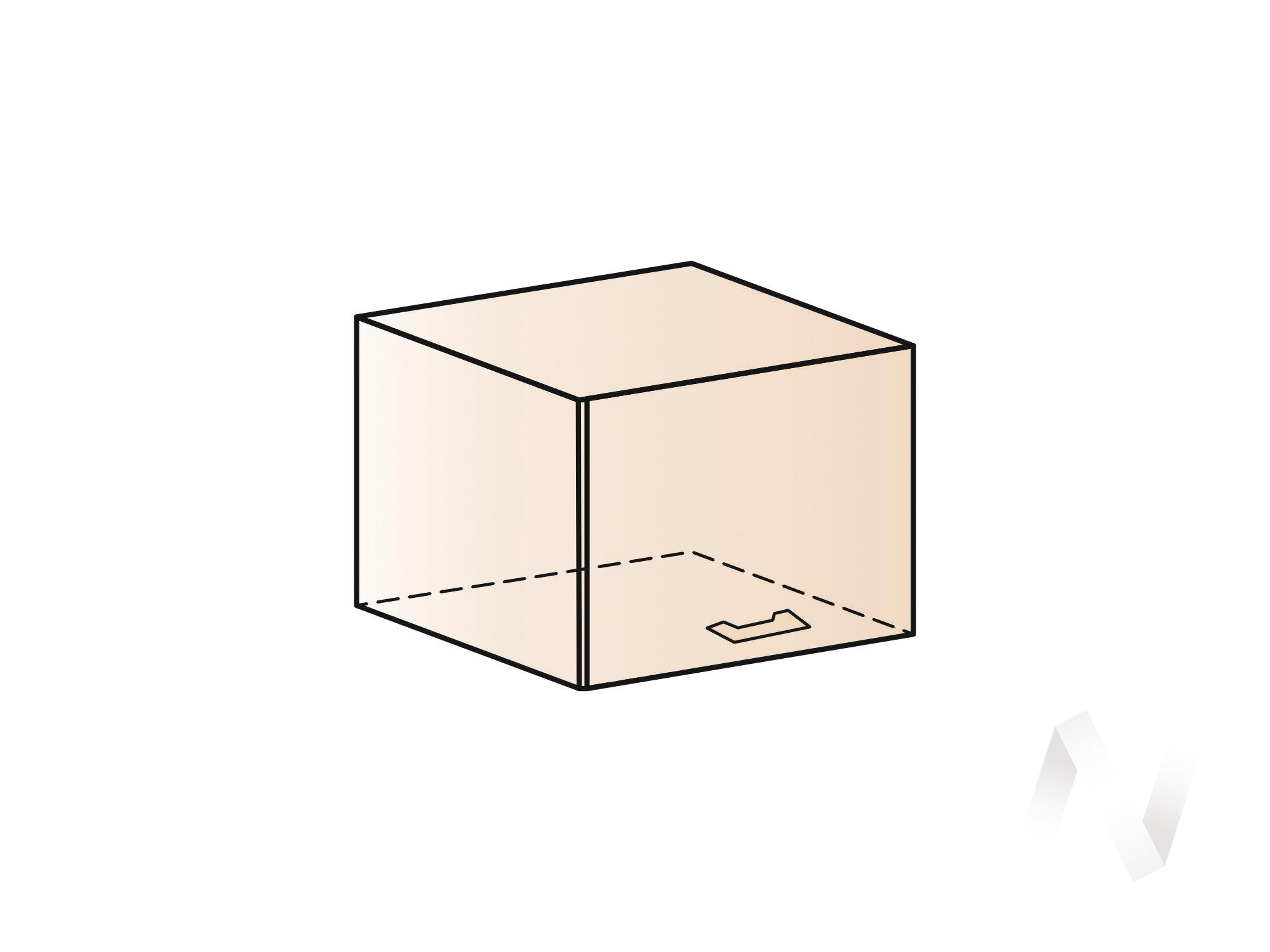 """Кухня """"Люкс"""": Шкаф верхний горизонтальный 500, ШВГ 500 (Шелк жемчуг/корпус белый) в Томске — авторская мебель Экостиль"""