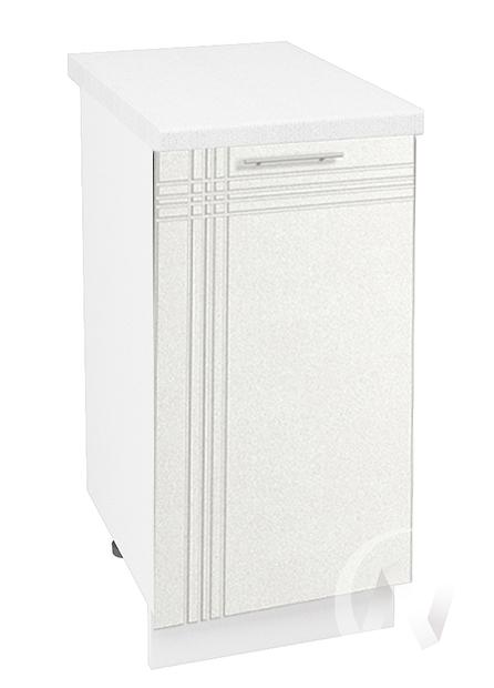 """Кухня """"Струна"""": Шкаф нижний 400, ШН 400 (белый металлик/корпус белый)"""