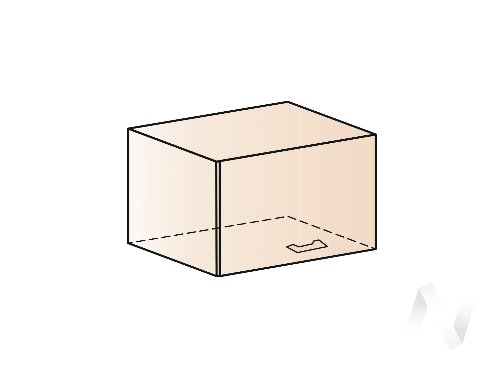 """Кухня """"Люкс"""": Шкаф верхний горизонтальный 600, ШВГ 600 (Гобелен шампань/корпус белый) в Новосибирске в интернет-магазине мебели kuhnya54.ru"""