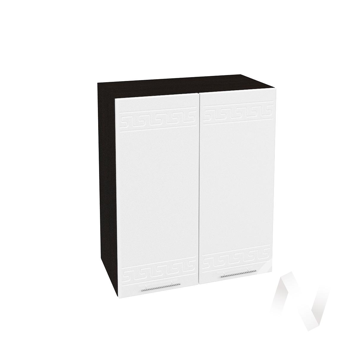 """Кухня """"Греция"""": Шкаф верхний 600, ШВ 600 (белый металлик/корпус венге)"""