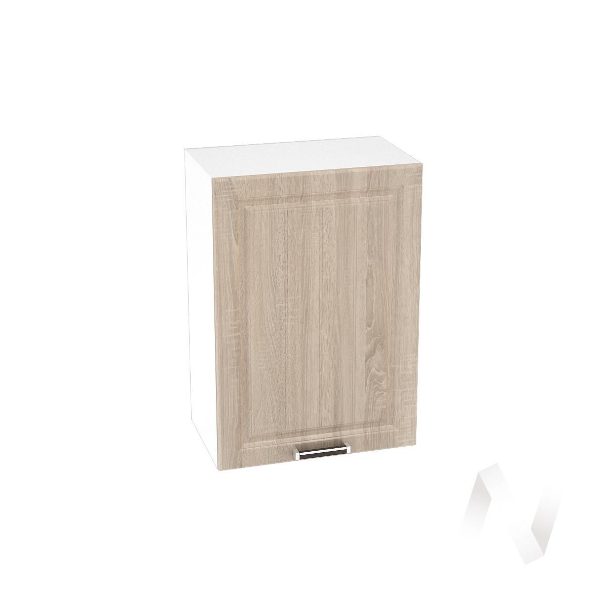 "Кухня ""Прага"": Шкаф верхний 500, ШВ 500 (дуб сонома/корпус белый)"