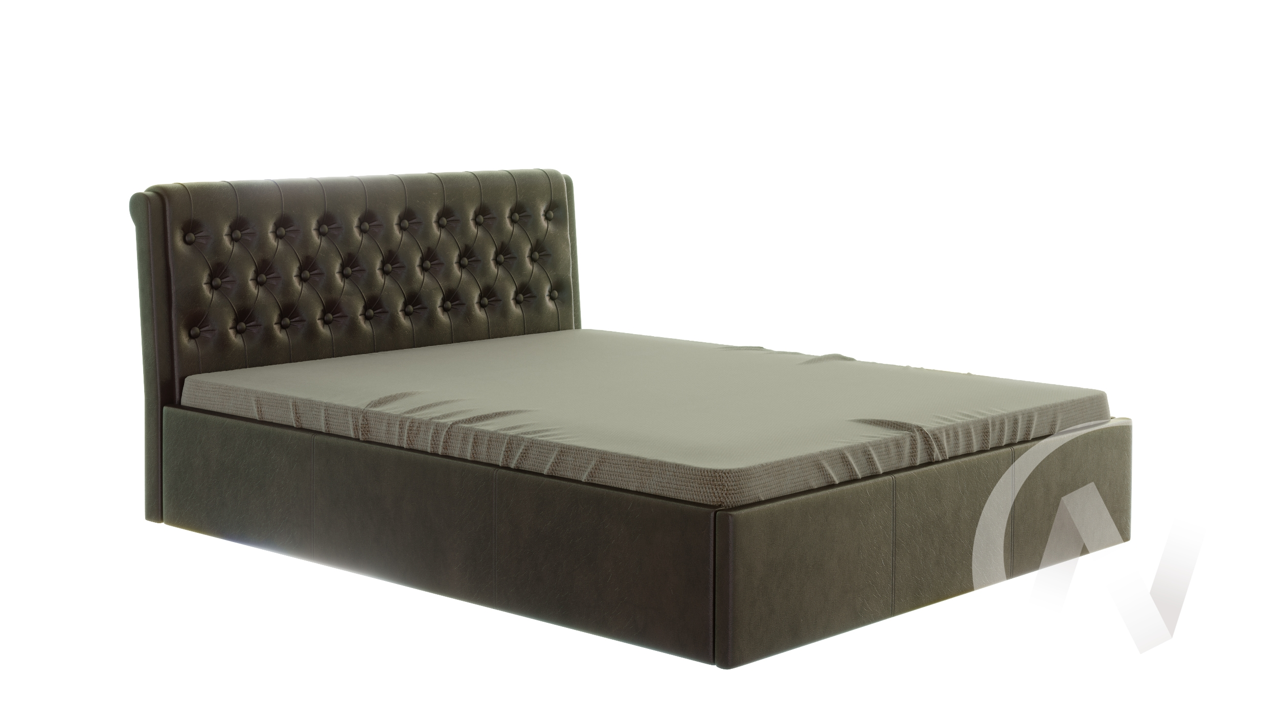 Кровать Дженни 1,6 с подъемным механизмом (коричневый)