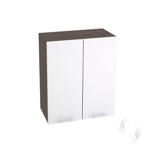 "Кухня ""Валерия-М"": Шкаф верхний 600, ШВ 600 (белый металлик/корпус венге)"
