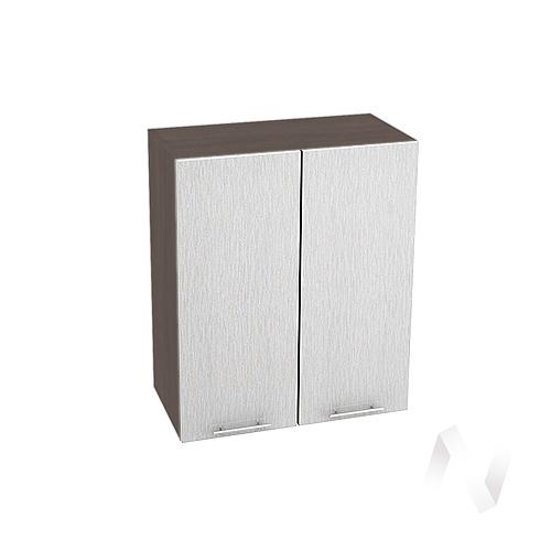 """Кухня """"Валерия-М"""": Шкаф верхний 600, ШВ 600 (дождь серый/корпус венге)"""