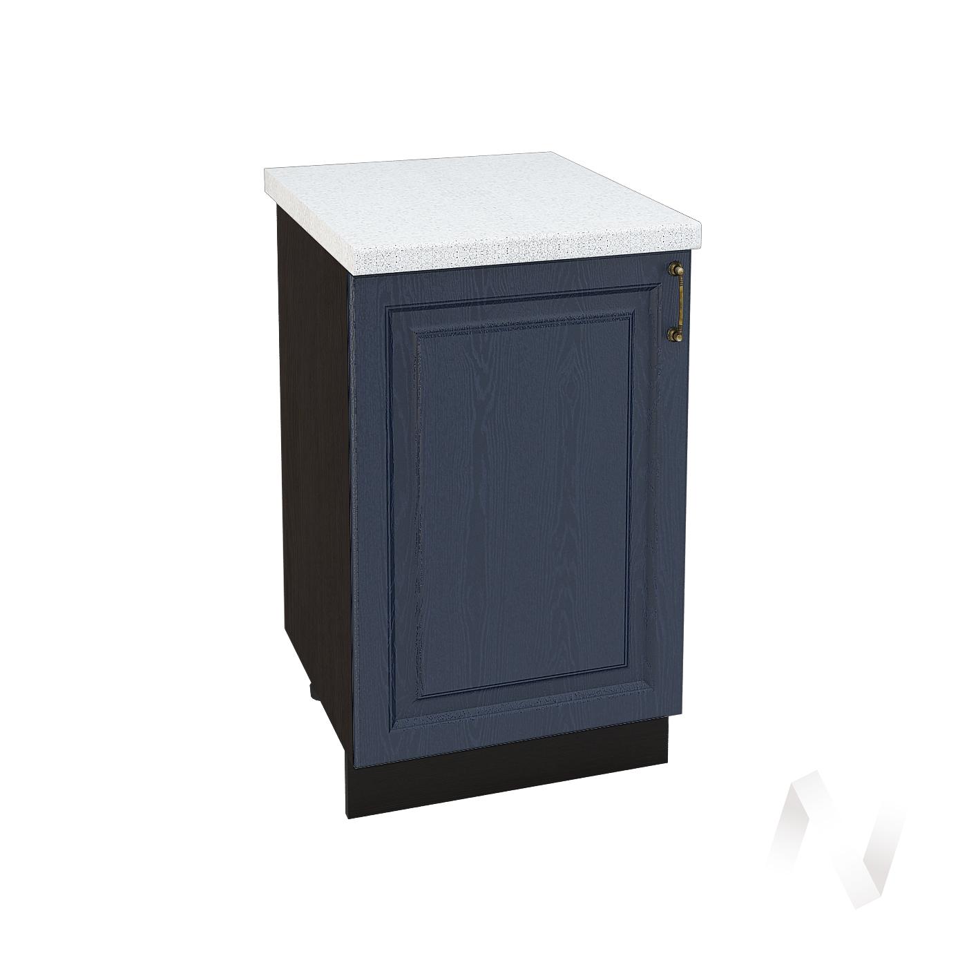 """Кухня """"Ницца"""": Шкаф нижний 500, ШН 500 (Дуб чернильный/корпус венге)"""