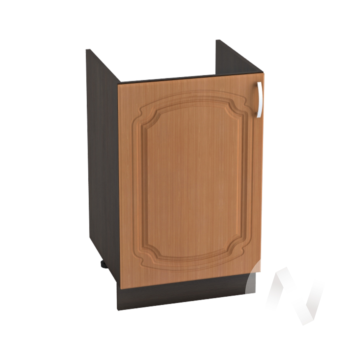 "Кухня ""Настя"": Шкаф нижний под мойку 500, ШНМ 500 (Орех миланский/корпус венге)"