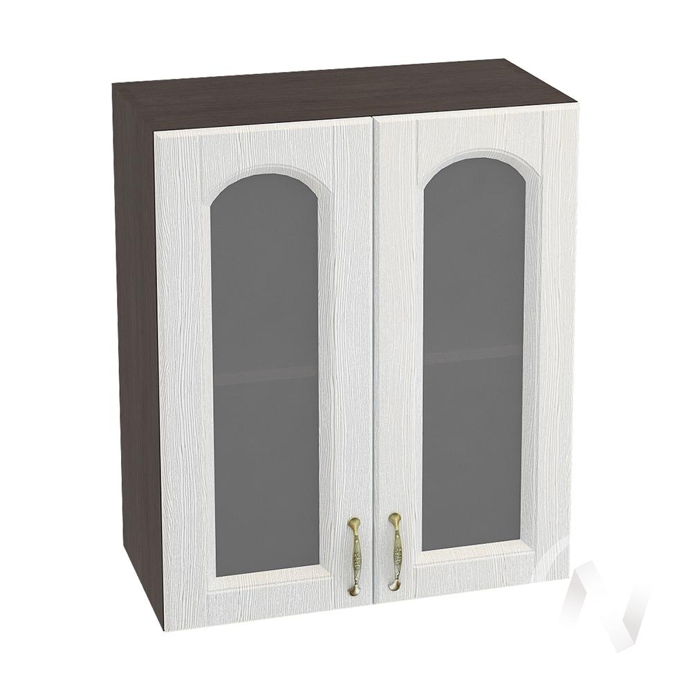 """Кухня """"Верона"""": Шкаф верхний со стеклом 600, ШВС 600 (ясень золотистый/корпус венге)"""