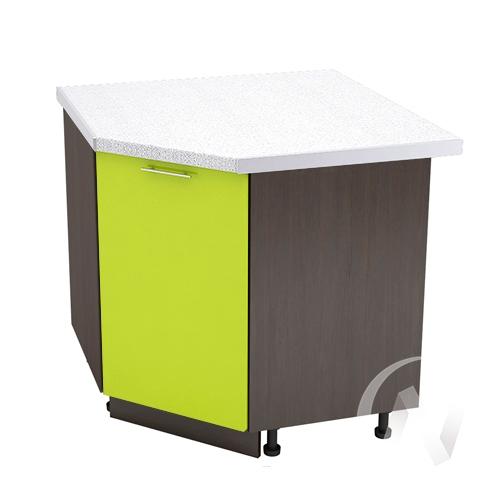 """Кухня """"Валерия-М"""": Шкаф нижний угловой 890, ШНУ 890 (лайм глянец/корпус венге)"""