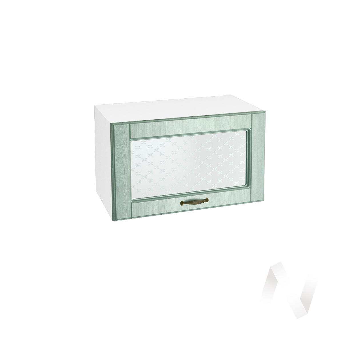 """Кухня """"Прованс"""": Шкаф верхний горизонтальный со стеклом 600, ШВГС 600 (корпус белый)"""
