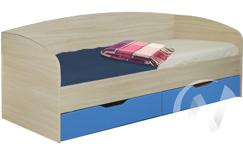 Акварель М10 Кровать с ящиками 800*2000 (бодега бежевый - ваниль,индиго)