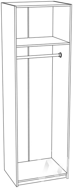 Шкаф скалка ШК-711 Гостиная Мальта (белфорт/венге)
