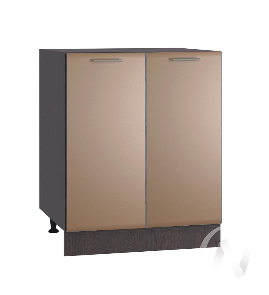 """Кухня """"Люкс"""": Шкаф нижний под мойку 600, ШНМ 600 (Шоколад матовый/корпус венге)"""