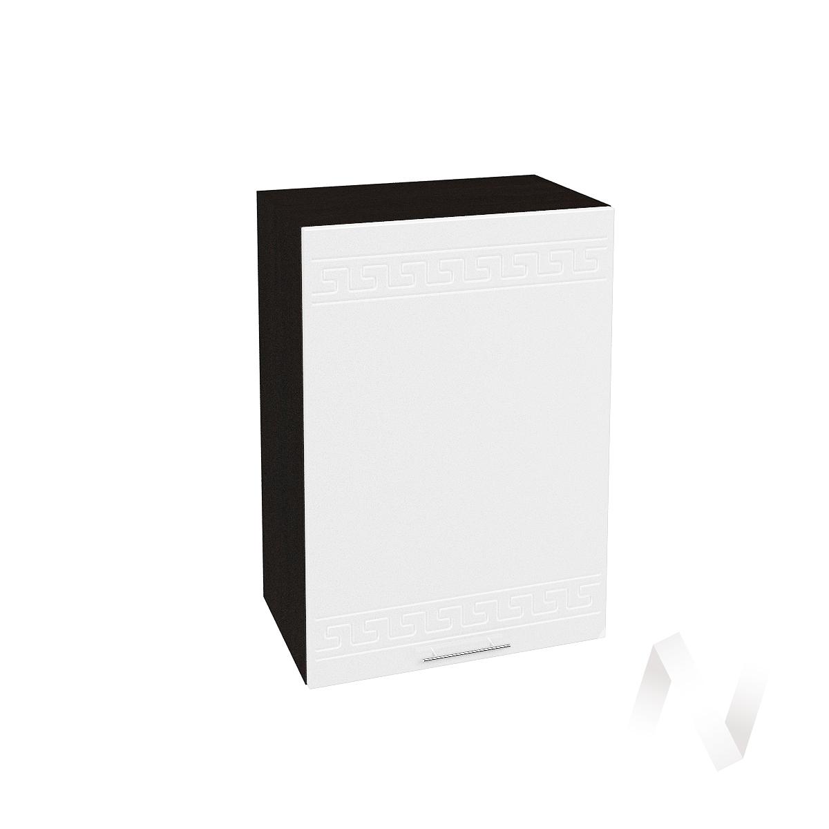 """Кухня """"Греция"""": Шкаф верхний 500, ШВ 500 (белый металлик/корпус венге)"""